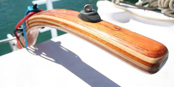Tiller wooden