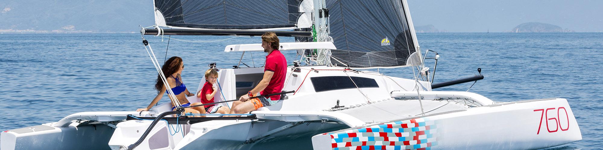 corsair 760 trimaran | High performance multihull sailboat