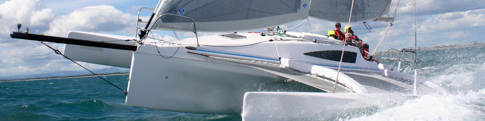 corsair Cruze 970 trimaran sailboat